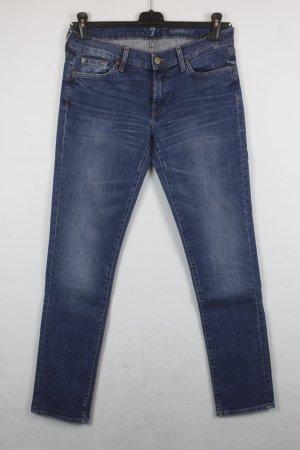 7 For All Mankind Jeans Straight Leg Gr. 29 denim blau (18/2/218/R)