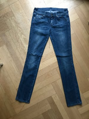 7 FOR ALL MANKIND Jeans Stretch, Mittelblau. Größe 28. Klassisch, passt zu allem