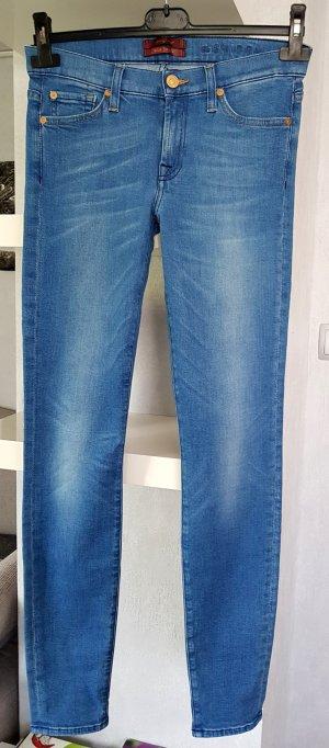 7 for all mankind Jeans the Skinny Silk Touch blau W27 NP. 239€ blau