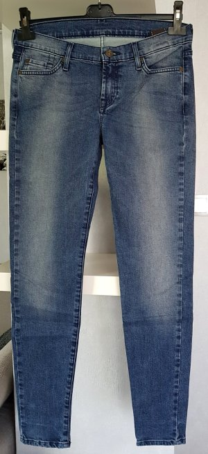 7 For All Mankind Skinny jeans staalblauw