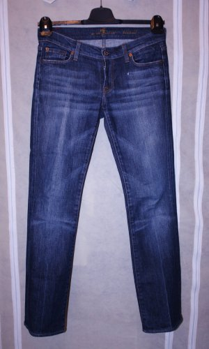 7 For All Mankind Low Rise jeans blauw Katoen
