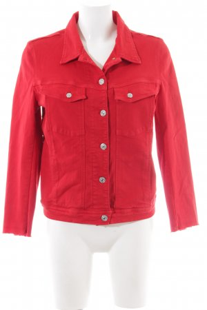 7 For All Mankind Veste en jean rouge style décontracté