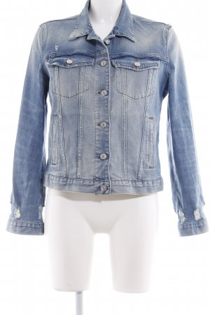 7 For All Mankind Cazadora vaquera azul-azul claro look casual