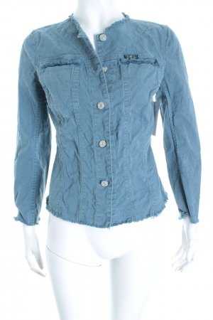 7 For All Mankind Jeansjacke blau Punktemuster Casual-Look