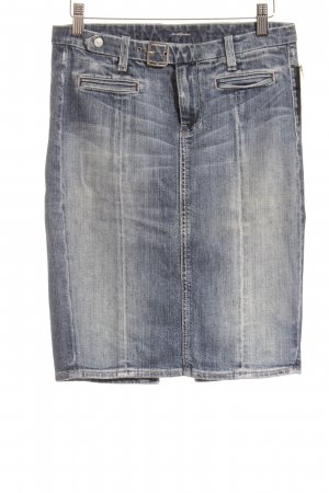 7 For All Mankind Jeansrock blau Street-Fashion-Look