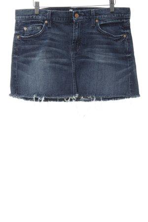 7 For All Mankind Jeansrock dunkelblau meliert Jeans-Optik