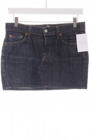 7 For All Mankind Jeansrock dunkelblau Used-Optik