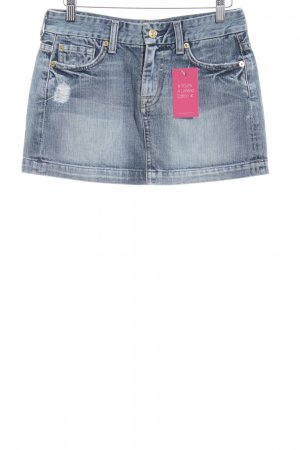 7 For All Mankind Jeansrock kornblumenblau Jeans-Optik