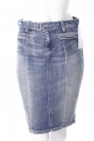 7 For All Mankind Jeansrock stahlblau Casual-Look