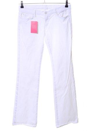 7 For All Mankind Jeans a zampa d'elefante bianco stile casual