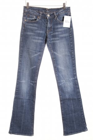 7 For All Mankind Jeans a zampa d'elefante blu Stile anni '80