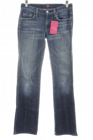7 For All Mankind Jeansschlaghose blau Farbverlauf Casual-Look