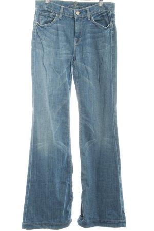 7 For All Mankind Jeans a zampa d'elefante blu Colore sfumato stile casual