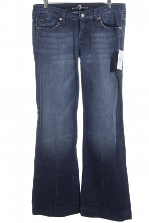7 For All Mankind Jeansschlaghose blau Jeans-Optik