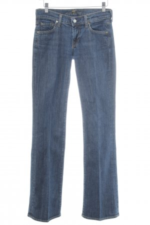 7 For All Mankind Jeansschlaghose blau meliert Casual-Look