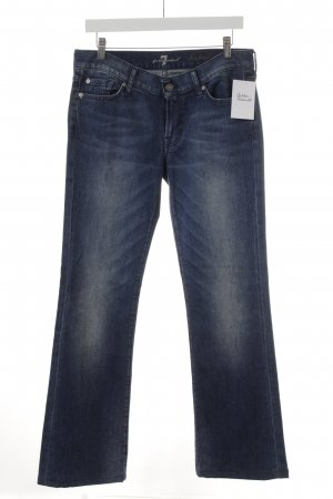 7 For All Mankind Jeans a zampa d'elefante blu stile semplice