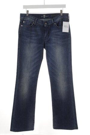 7 For All Mankind Jeans a zampa d'elefante blu stile semplice