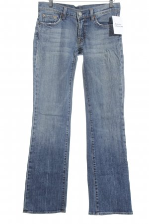 7 For All Mankind Jeansschlaghose blau Used-Optik
