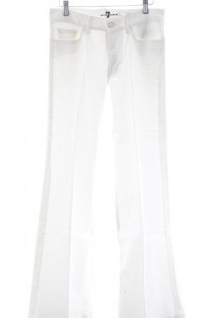 7 For All Mankind Jeansschlaghose creme 90ies-Stil