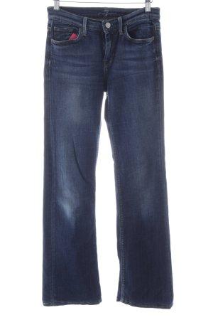 7 For All Mankind Jeansschlaghose dunkelblau 70ies-Stil