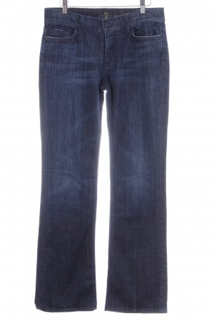 7 For All Mankind Jeansschlaghose dunkelblau-blauviolett Casual-Look