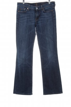 7 For All Mankind Jeansschlaghose dunkelblau-himmelblau Vintage-Look