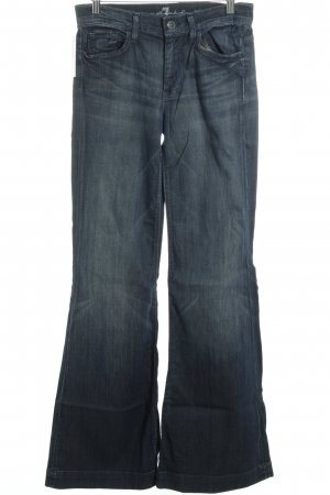7 For All Mankind Jeansschlaghose dunkelblau Retro-Look