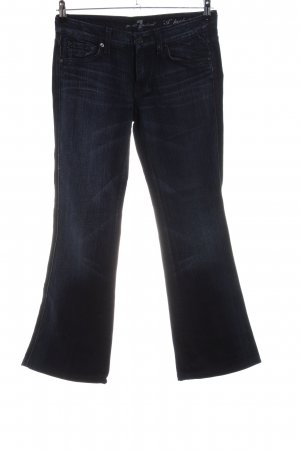 7 For All Mankind Spijker flares blauw casual uitstraling
