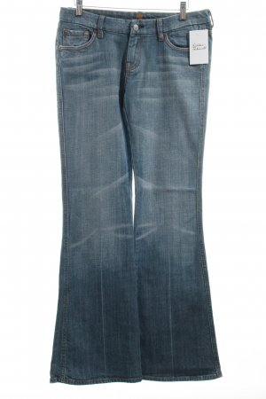 7 For All Mankind Jeansschlaghose graublau Washed-Optik