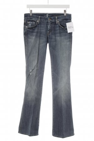 7 For All Mankind Jeansschlaghose kornblumenblau Hippie-Look