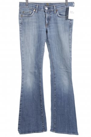 7 For All Mankind Jeansschlaghose kornblumenblau Jeans-Optik