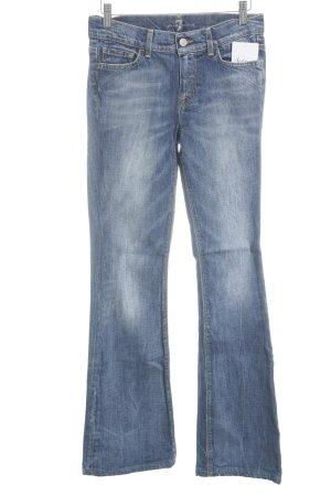 7 For All Mankind Jeansschlaghose stahlblau klassischer Stil