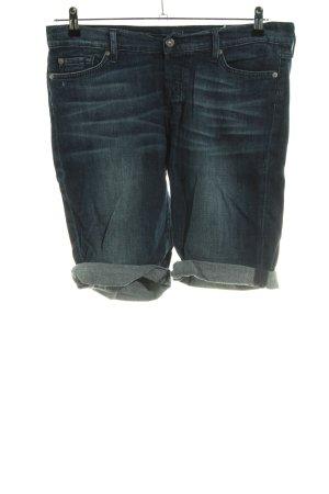 7 For All Mankind Short en jean bleu style décontracté