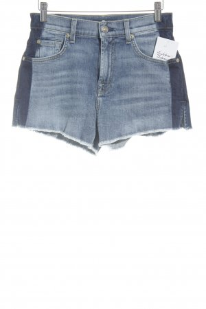 7 For All Mankind Denim Shorts blue casual look
