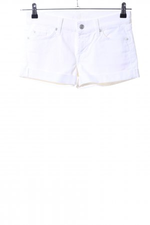 7 For All Mankind Pantaloncino di jeans bianco stile casual