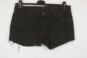7 For All Mankind Short en jean brun foncé coton