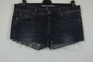 7 for all mankind Jeansshorts Shorts Hot Pants Gr. 32 / 42 blau