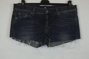 7 For All Mankind Short en jean bleu coton