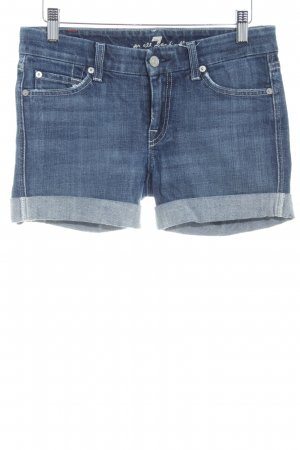 7 For All Mankind Denim Shorts steel blue casual look