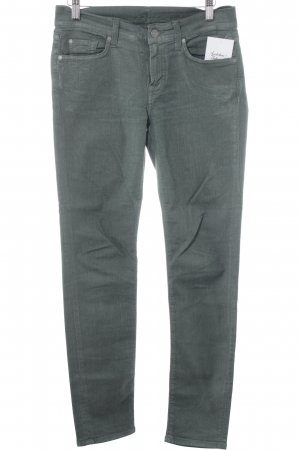 7 For All Mankind Jeggings verde oscuro-blanco puro look casual