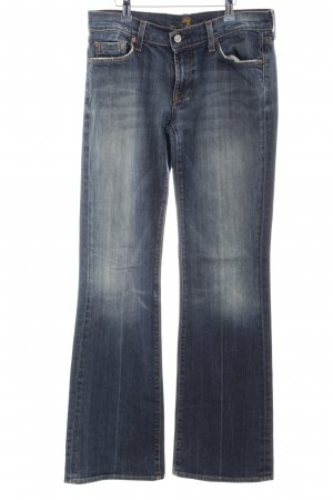 7 For All Mankind Vaquero estilo zanahoria azul look casual