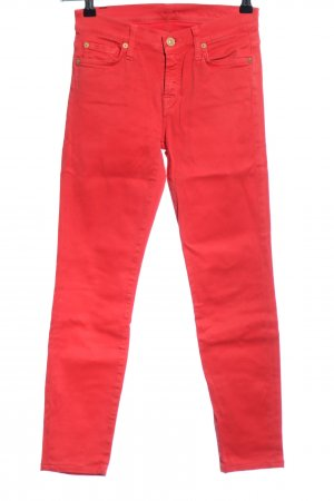 7 For All Mankind Jeans a carota rosso stile casual