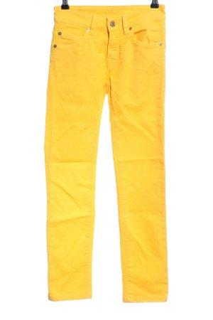 7 For All Mankind Jeans a carota giallo pallido stile casual