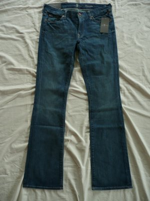 7 For All Mankind Jeans bootcut bleu coton