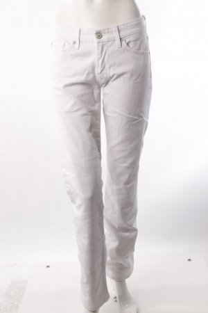 7 For All Mankind Kimmie Straight Leg Jeans weiß