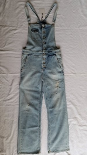 7 For All Mankind Salopette blu pallido Cotone