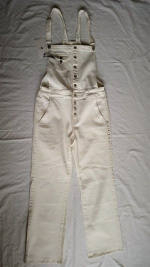 7 For All Mankind Salopette bianco Cotone
