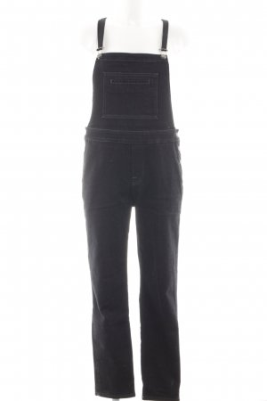 7 For All Mankind Latzjeans schwarz Casual-Look