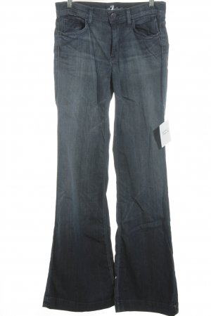 7 For All Mankind Pantalón anchos azul acero look casual