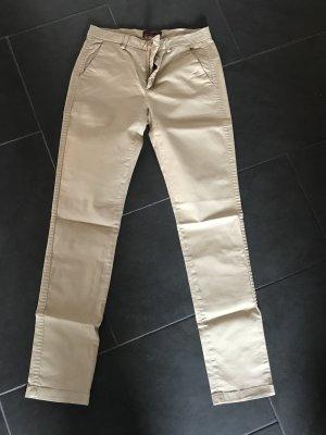 7 For All Mankind Pantalon chinos chameau coton